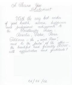 Peterson Testimonial