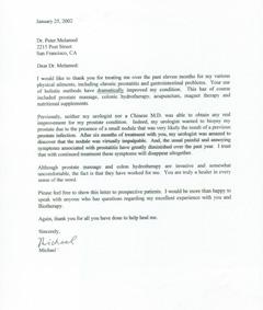 Michael Testimonial